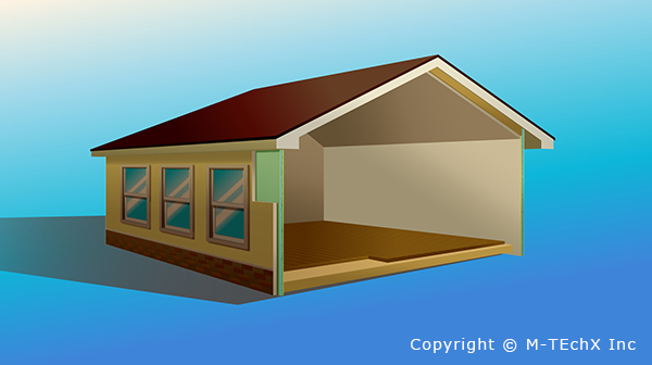 Photo Image of Building Material for Residential Homes.